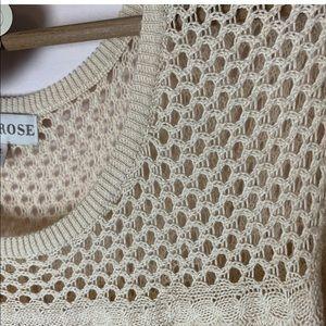 Knox Rose Sweaters - KNOX ROSE Oatmeal Sweater Open Knit Plus Size XXL